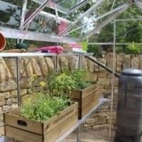 4ft Long Integral Greenhouse Staging to suit Birdlip in Black