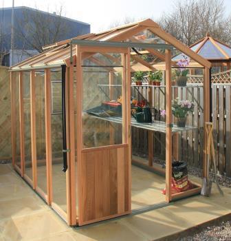 Alton Evolution Six Cedar Timber Greenhouse 6ft Wide